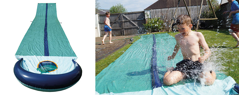 Slip and slide product banner