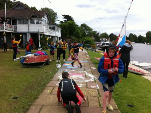 Team Magnus multi-tools and activity sets in use at an Upper Thames regatta.
